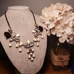 •J. Crew• Adjustable Crystal Necklace